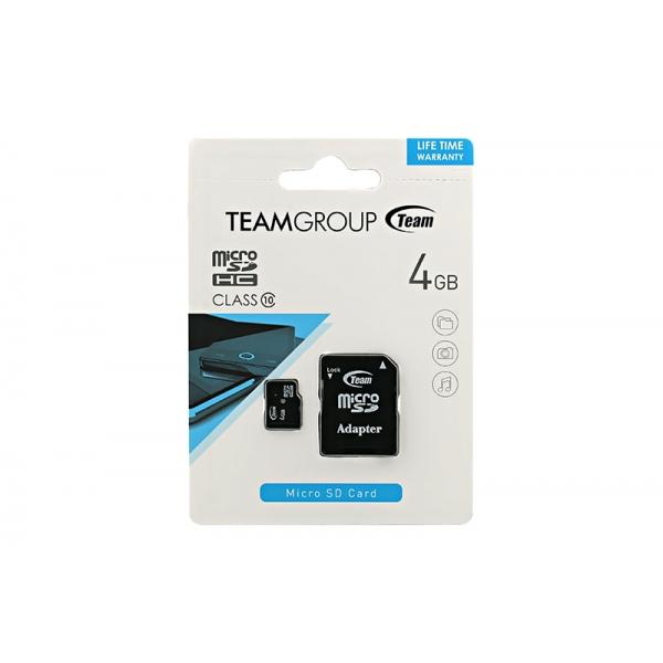 Card Team Micro SD Clasa10 04GB  0