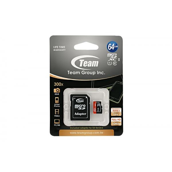 Card Team Micro SD Clasa10 64GB  0