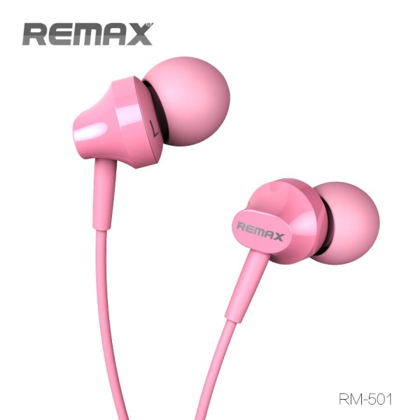 HANDSFREE WITH MICROPHONE REMAX, PINK 0