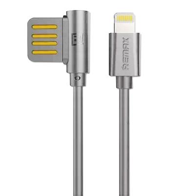 CABLU REMAX RAYEN RC-075i ELBOW IPHONE 6 / 7 / 8-USB REVERSIBIL, GREY [0]