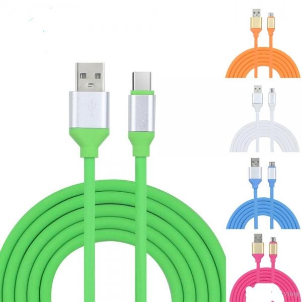 CABLU MICRO USB METALIC FASHION FAST CHARGING GREEN 0