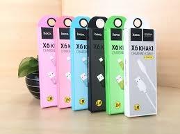 CABLU HOCO X6 KHAKI MICRO USB, BARLEY GREEN 1