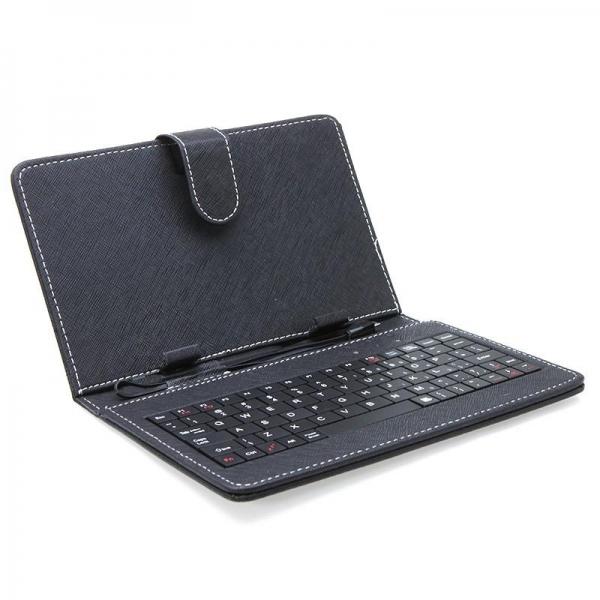 "Husa Tableta universala 7"" cu tastatura 0"