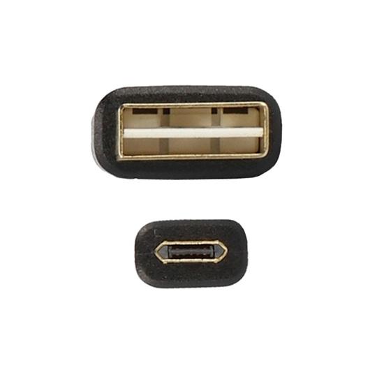 CABLU MICRO USB (REVERSIBIL) 100cm, BLACK [3]