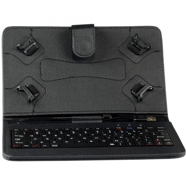 "Husa Tableta universala 7"" cu tastatura 2"
