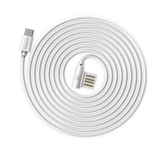 CABLU REMAX RAYEN RC-075a ELBOW TYPE C-USB REVERSIBIL, WHITE 1