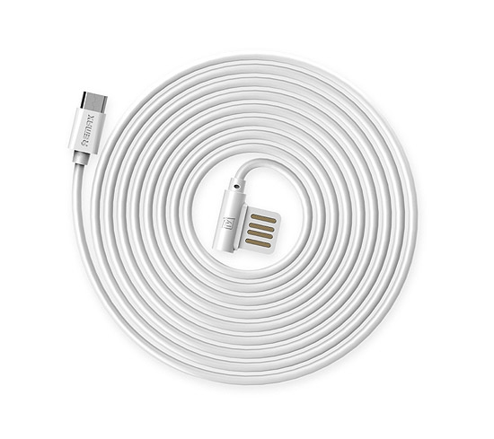 CABLU REMAX RAYEN RC-075m ELBOW MICRO USB-USB REVERSIBIL, WHITE 1