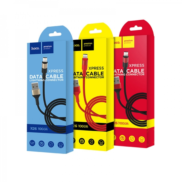 CABLU HOCO X26 XPRESS CHARGING MICRO USB, BLACK-GOLD 0