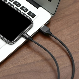 CABLU BASEUS YIVEN IPHONE 180cm, BLACK [4]