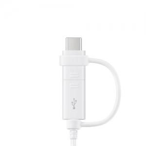 CABLU 2IN1 MICRO USB / TYPE C SAMSUNG EP-DG930DW 150cm WHITE ORIG. BULK [3]