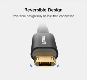 CABLU MICRO USB (REVERSIBIL) 100cm, BLACK [2]