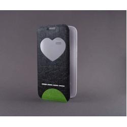 "Husa S-View ""LOVE"" Samsung GALAXY S5 Mini0"