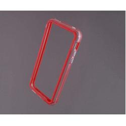 Bumper husa protectie iPhone 5C margine silicon ROSU4