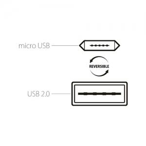 CABLU MICRO USB (REVERSIBIL) 100cm, BLACK4