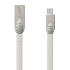 CABLU BEEYO FLAT MICRO USB, WHITE1