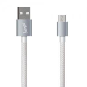 CABLU BEEYO TWINE MICRO USB, WHITE [1]
