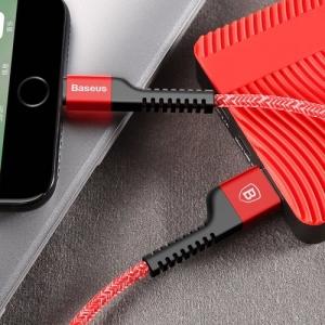 CABLU BASEUS CONFIDANT ANTI-BREAK IPHONE 6 / 7 / 8 2A 100cm, RED [3]