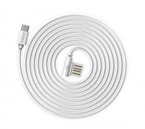 CABLU REMAX RAYEN RC-075a ELBOW TYPE C-USB REVERSIBIL, WHITE1