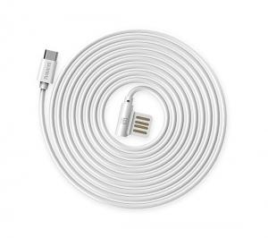 CABLU REMAX RAYEN RC-075m ELBOW MICRO USB-USB REVERSIBIL, WHITE2