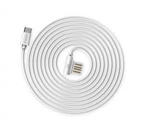 CABLU REMAX RAYEN RC-075m ELBOW MICRO USB-USB REVERSIBIL, WHITE [1]