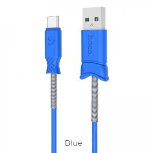 CABLU HOCO X24 PISCES CHARGING TYPE C, BLUE [1]
