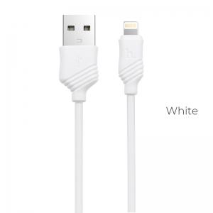 CABLU HOCO X6 KHAKI LIGHTNING, WHITE1