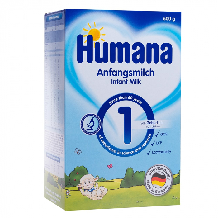 Humana 1 GOS 600gr - Lapte praf 0-6 luni [0]