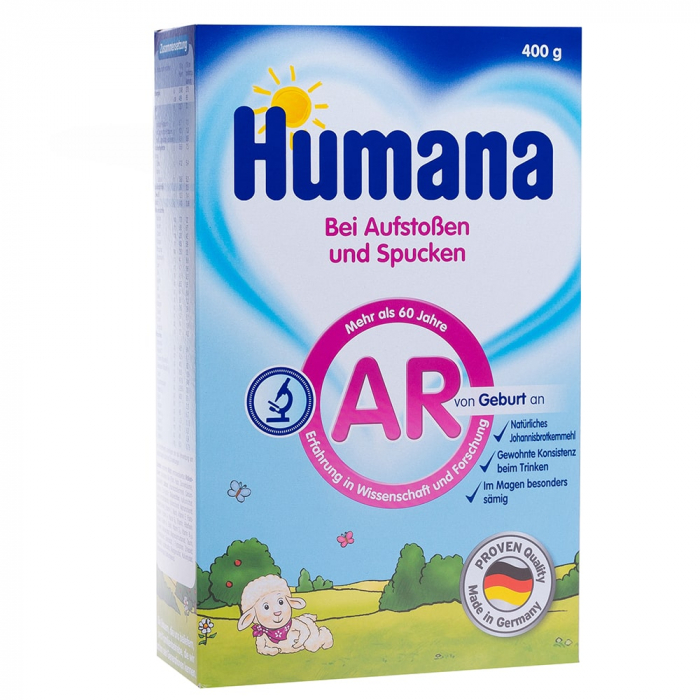 Humana AR antireflux lapte praf, 400g, de la nastere [0]