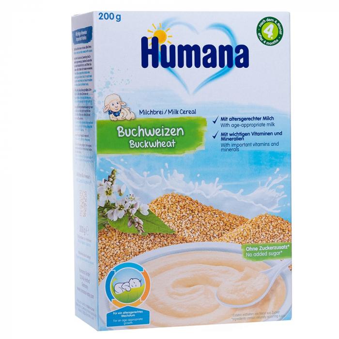 Humana cereale cu lapte si hrisca, 200g [0]