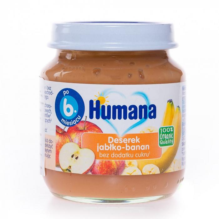 Humana ECO piure banane și măr, 125g [0]