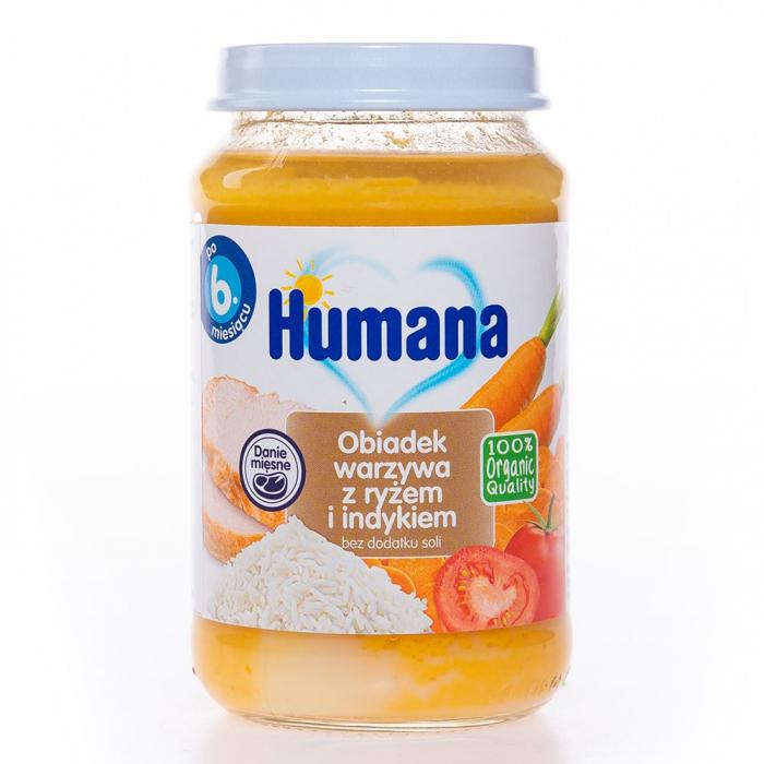 Humana ECO Piure de legume, orez, curcan, 190g [0]