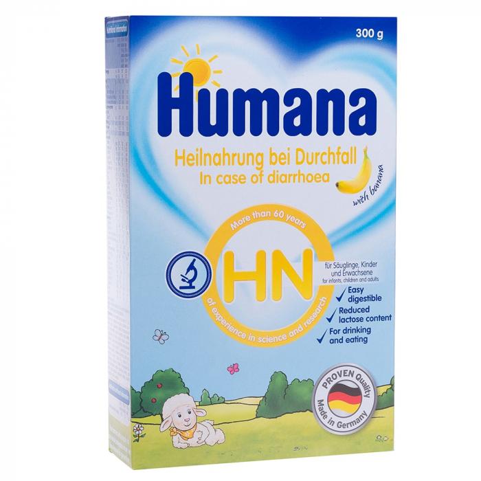 Humana HN lapte praf - gust banane 300g, pentru sugari, copii, adulti [0]