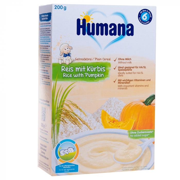 Humana orez cu dovleac, fara lapte, 200g [0]