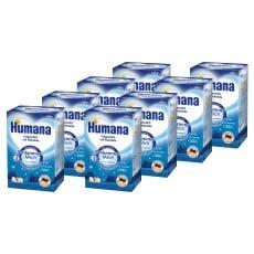 Pachet 8 x Humana lapte praf de noapte cu cereale 600gr, de la 6 luni 0