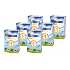 Pachet 6 x Humana HA 1, 500g, Lapte praf de la nastere 0