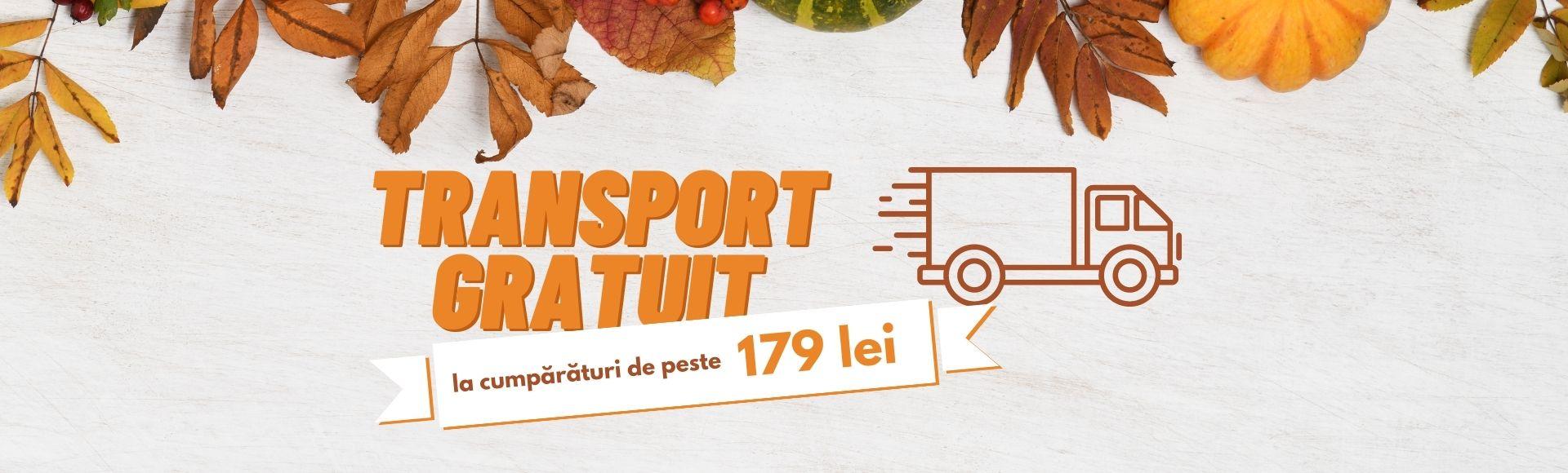 Transport gratuit la comenzile peste 179 RON