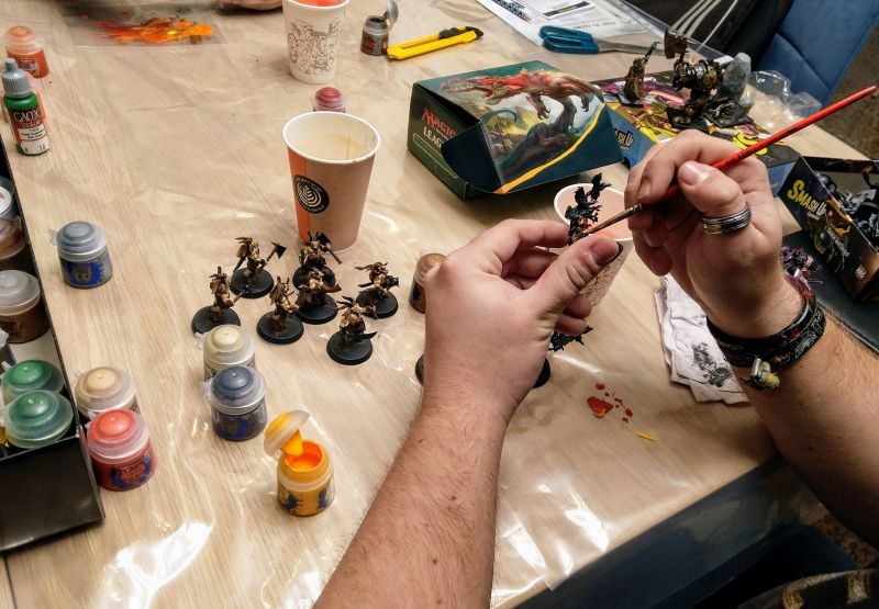 Miniature painting at The Guild Hall