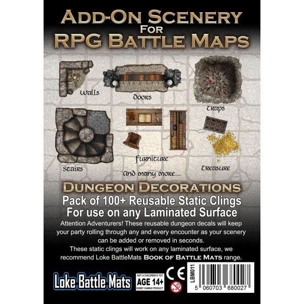 Add-on Scenery for RPG Maps - Dungeon Decorations 0