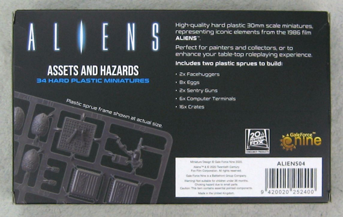 Aliens Assets and Hazards 1
