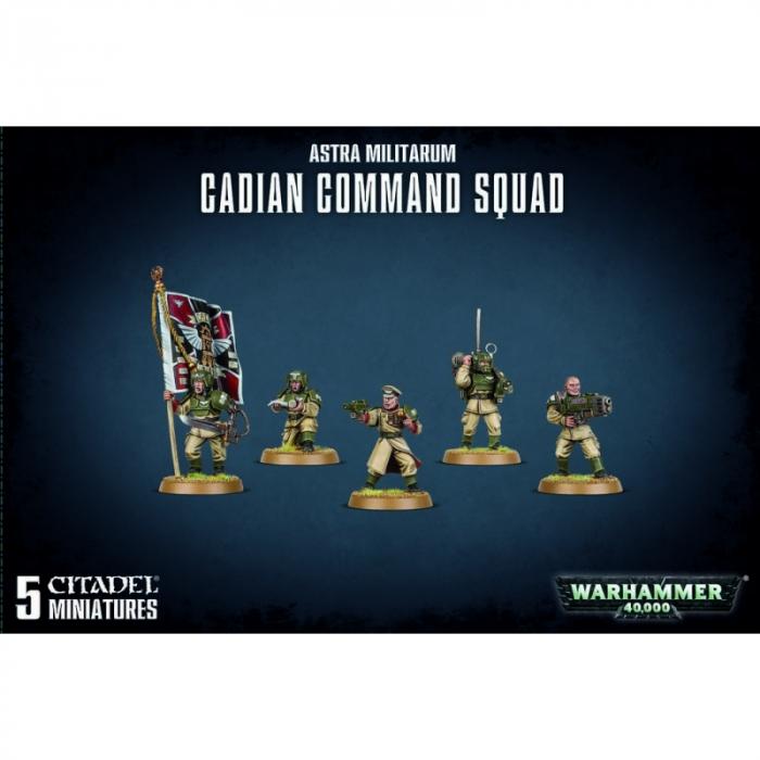 Astra militarum Cadian Command Squad 0