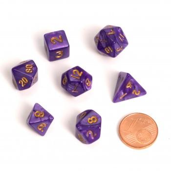 Blackfire Dice - Fairy Dice RPG Set - Marbled Purple (7 Dice) 0