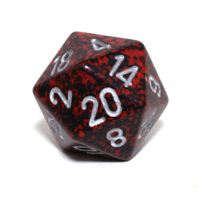 Speckled 34mm D20: Silver Volcano [0]