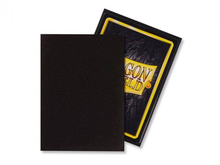 Standard Sleeves: Matte Black 63x88mm (100 buc) - Dragon Shield 1