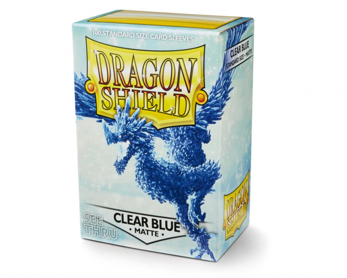Standard Sleeves: Matte Clear Blue 63x88mm (100 buc) - Dragon Shield 0