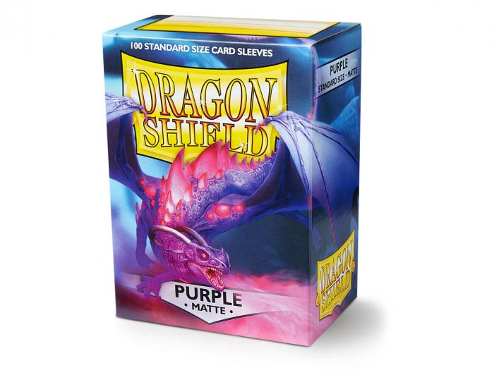 Standard Sleeves: Matte Purple 63x88mm (100 buc) - Dragon Shield 0