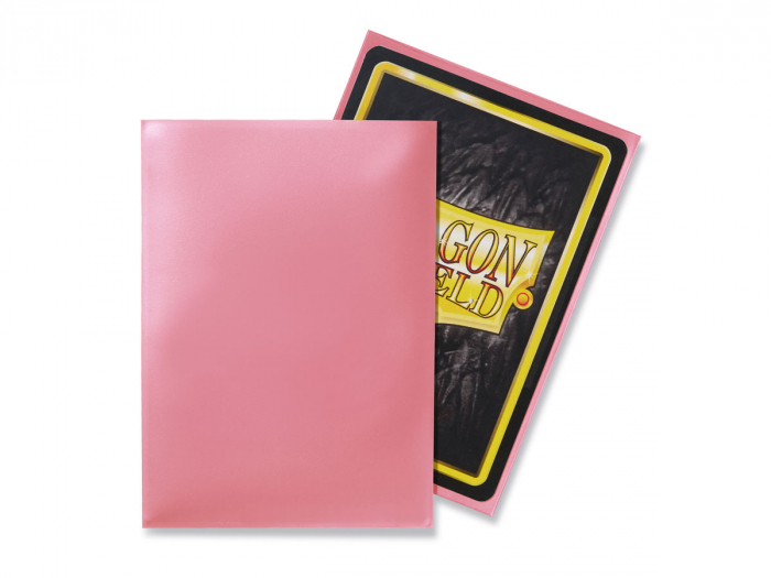 Standard Sleeves: Pink 63x88mm (100 buc) - Dragon Shield 1