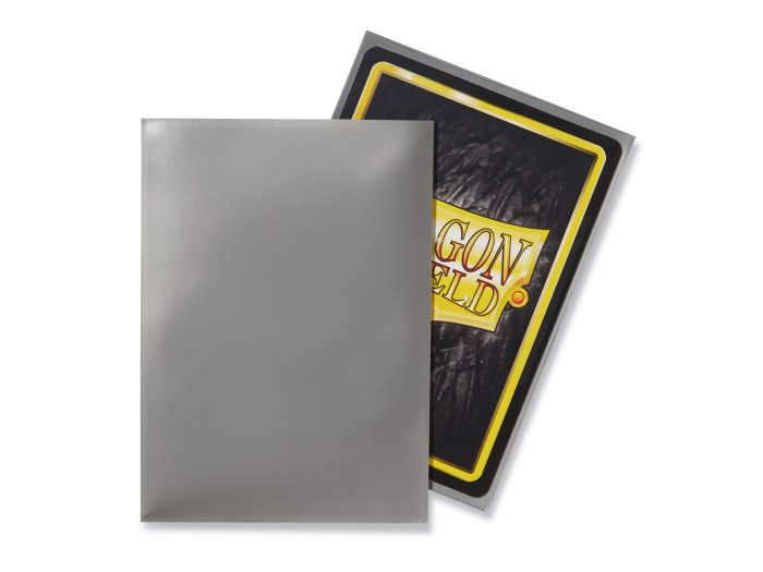 Standard Sleeves: Silver 63x88mm (100 buc) - Dragon Shield 1