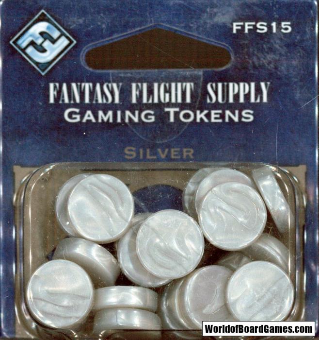 Gaming Tokens - Silver - Fantasy Flight Games 1