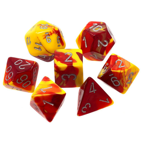 Gemini Poly 7 Set: Red-Yellow/Silver 0