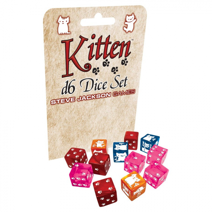 Kitten d6 Dice Set 0